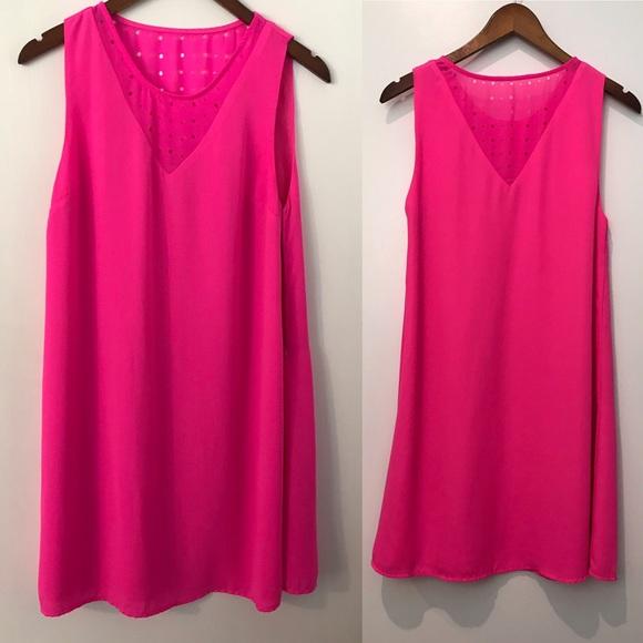 Gianni Bini Dresses & Skirts - GB Gianni Bini Neon Pink Shift Mini Tunic Dress